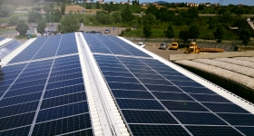 Impianto fotovoltaico situato a Monte San Savino (AR) - sviluppa 100KwP