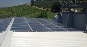 impianto fotovoltaico installato in loc. Pianello (PG), sviluppa 20 kWp