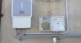 impianto fotovoltaico installato in loc. Pianello (PG)