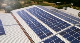 impianto fotovoltaico installato a Torgiano (PG), dallo sviluppo di 100 kWp