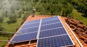 impianto fotovoltaico installato in abitazione a Castiglione del Lago (PG)